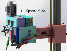 2 speed radial drill motor