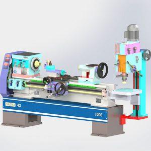 Banka Lathe Mill Combo Machine