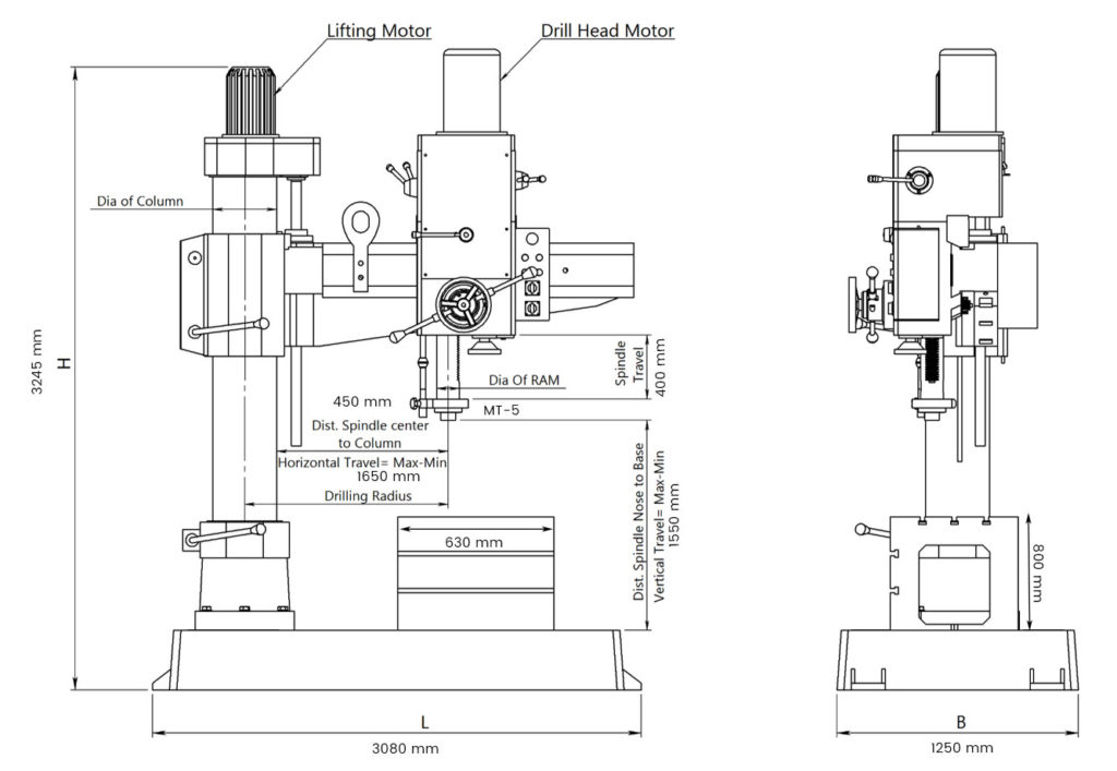 imported-all-gear-radial-drill-machine-z3063x20