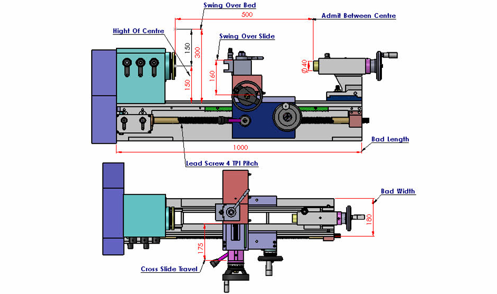 Mini Lathe Specification