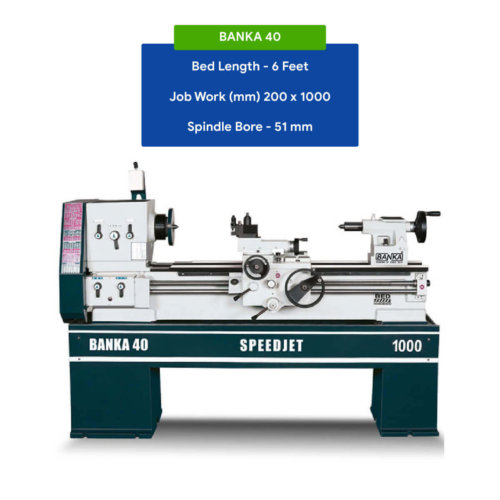 MEDIUM DUTY ALL GEAR LATHE MACHINE - 6 And 7 Feet For Cutting, Facing,  Knurling, Deformation - Industrial Use - With 50 mm/2 inch Bore