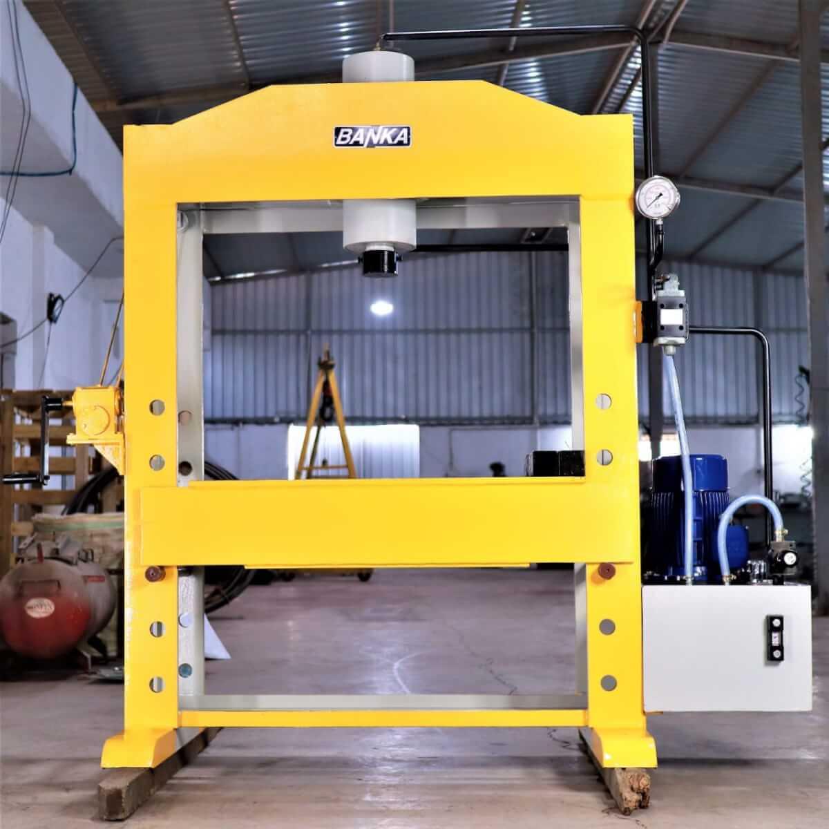 Hydraulic Press machine- Cylinder Machine -Pillar type Stand Press Hand Press Manual Punching 100 Ton Capacity Banka Machine