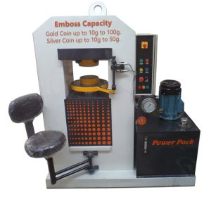 gold and silver coin embossing hydraulic press machine